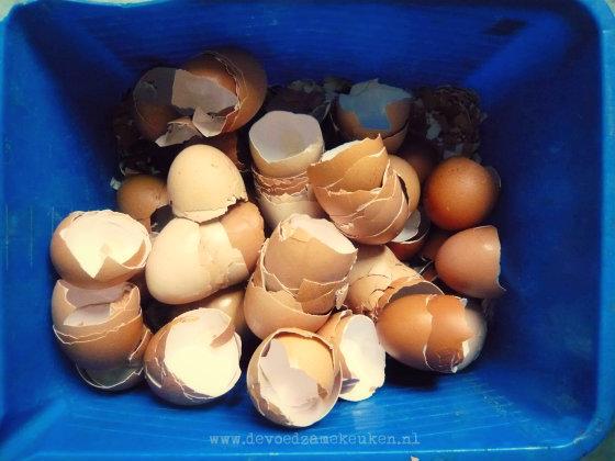 Calciumpoeder (kalk) van eierschalen