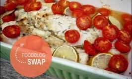 Kabeljauw uit de oven met Kokosmelk, Limoen en Tomaatjes {Foodblogswap}