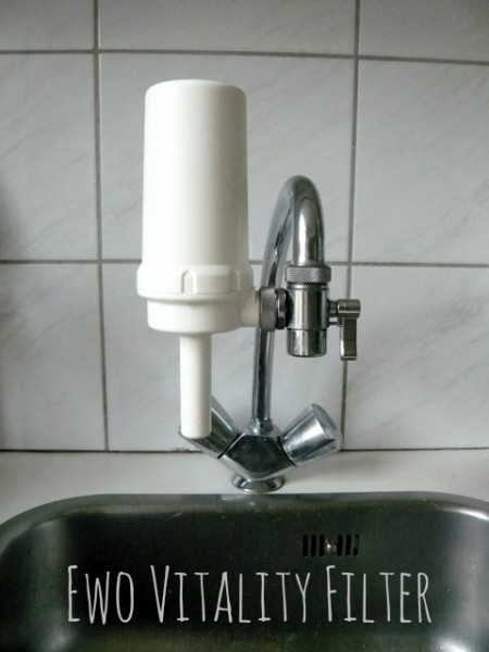 Ewo Vitality Filter on our tap in moestuinieren