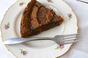 Gluten free pumpkin chocolate chip pie