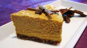 Raw Vegan pumpkin cheesecake