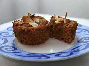 Ecreamy pumpkin banana raisin muffins