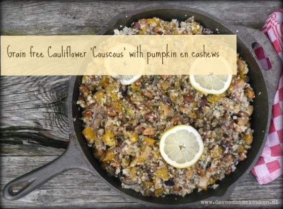 Grain free Cauliflower Couscous