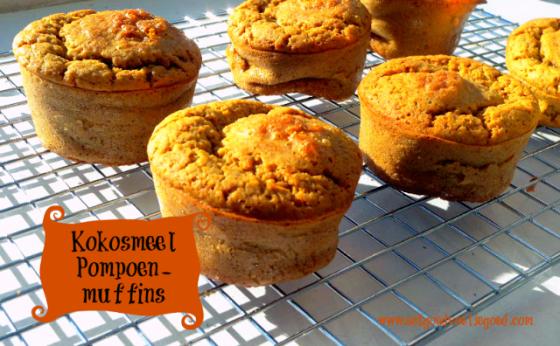 Kokosmeel Pompoenmuffins
