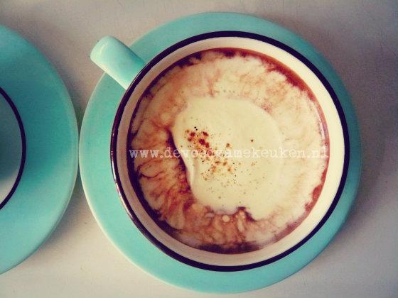 warme chocolademelk met pompoen