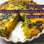 Vegetarische Quiche met pompoen en boerenkool